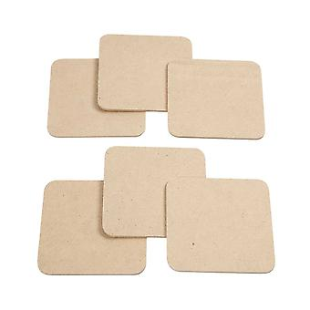 6 Wooden MDF Coasters to Decorate - Adults Crafts | Wooden Shapes for Crafts