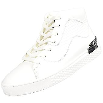 Ed Hardy Scale High Top White Trainers