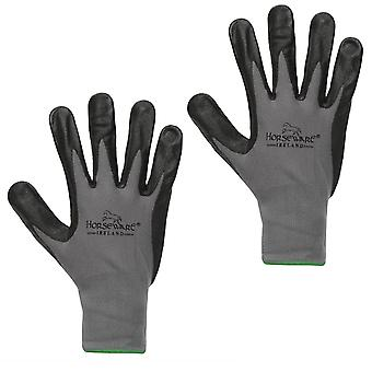 Horseware Unisex Coated Dot Grip Gloves Water Resistant Breathable