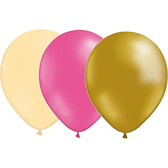 Ballonnen mix 24-pack ivoor/roze/goud