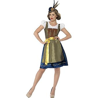 Traditional Deluxe Heidi Bavarian Costume, Large