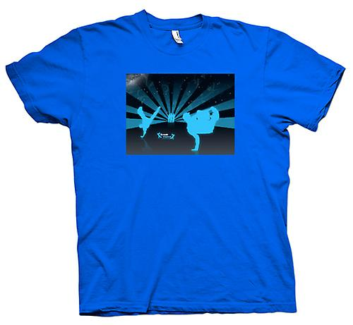 Mens T-shirt - Break Dance Street Blue - Design