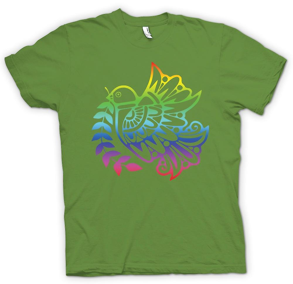 Mens t-shirt - pace colomba Rainbow - Cool