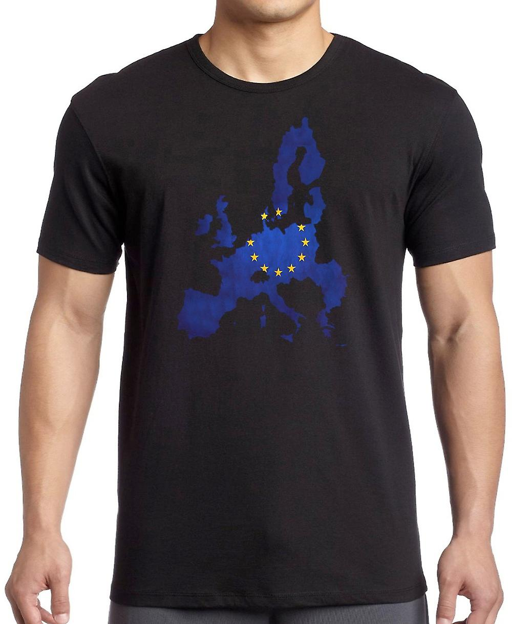 EU: S europeiska flaggan karta T Shirt - 5xl