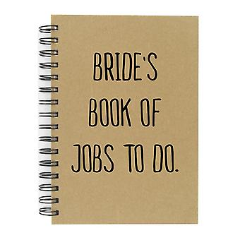 Bride's Book Of Jobs To Do A5 Kraft Notebook