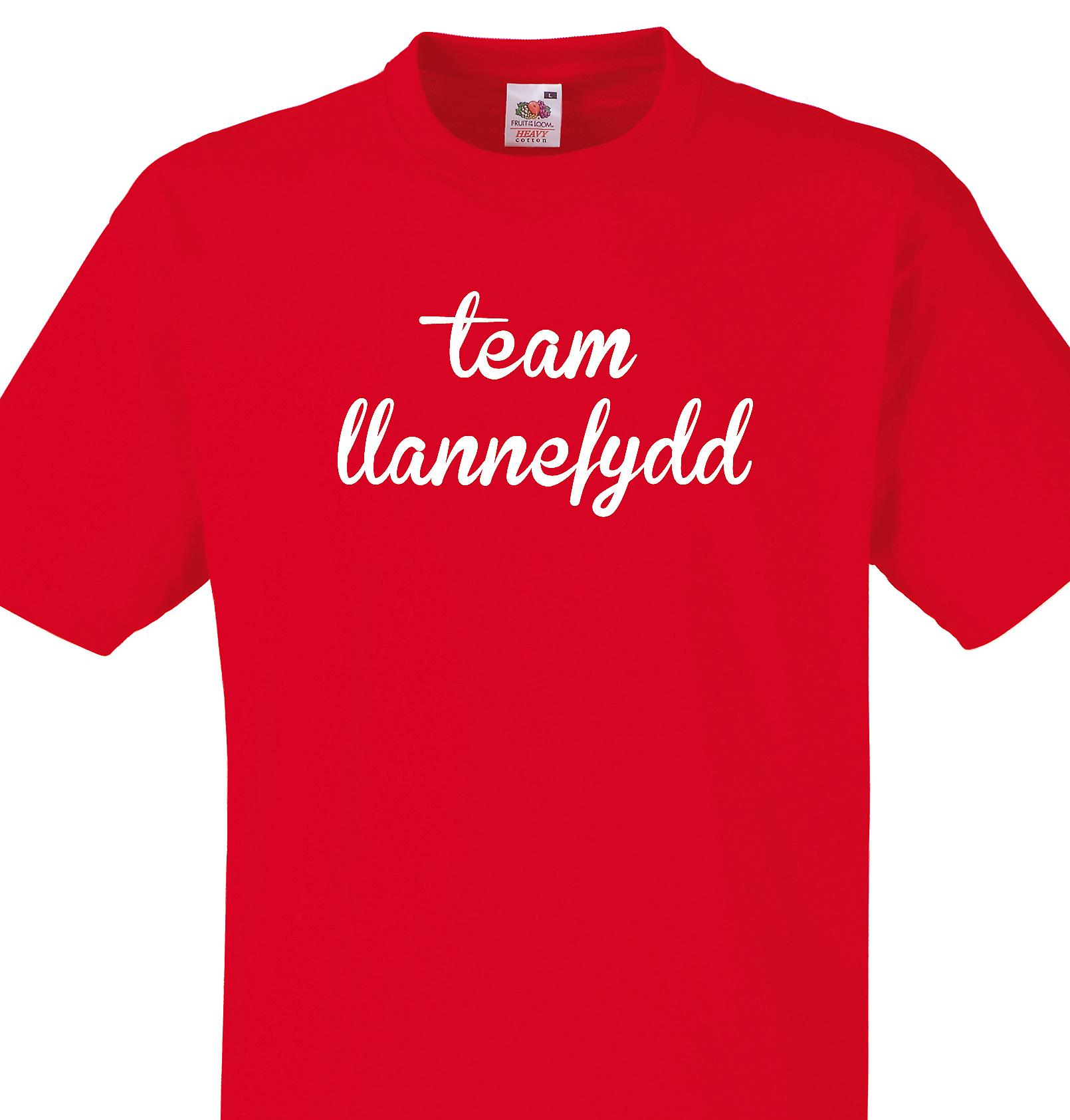 Team Llannefydd Red T shirt