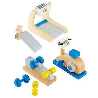 Jeu d'imitation enfant jeux jouets Salle de fitness pour maison de poupée 0102108