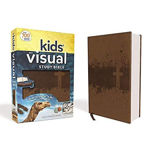 NIV Kids& Visual Study Bible, Imitation Leather, Bronze, Full Couleur Interior  Explore the Story of the Bible---People, Places, and History