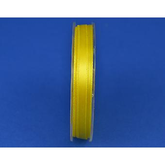 7mm Bright Yellow Polyester Satin Craft Ribbon - 10m | Ribbons & Bows for Crafts