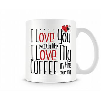 I Love You Exactly Like I Love My Coffee In A Morning Mug