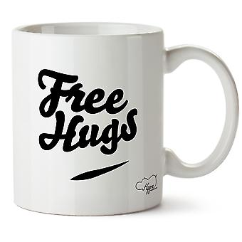 Free Hugs 10oz Becher Geschenk präsent Cup Haushaltswaren Küsse schön fürsorglich liebenden