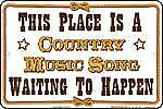 This Place Is A Country Music Song... aluminium sign