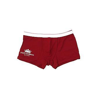 Dolce E Gabbana Boxer de algodão vermelho