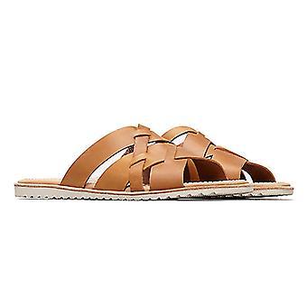 Womens Sorel Ella Slide lättstött smidigt läder öppen tå skär ut sandaler