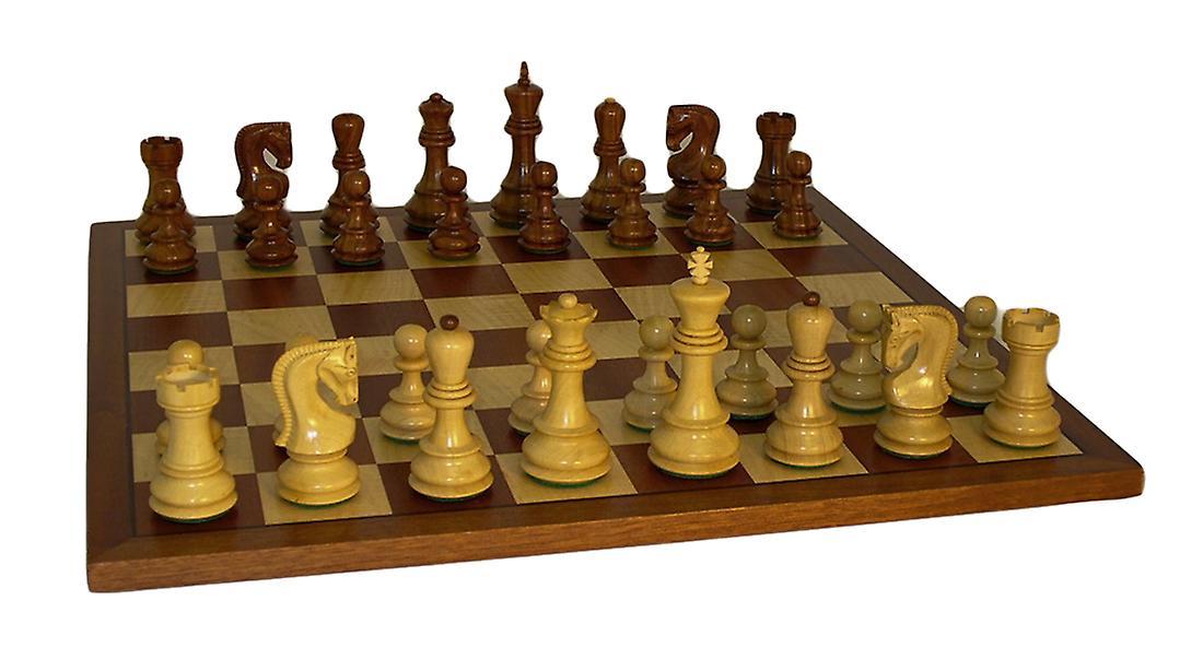 Sheesham altrussischen Schachspiel mit Sapele Board