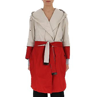 Max Mara White/red Synthetic Fibers Trench Coat