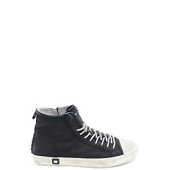 D.a.t.e. Black Leather Hi Top Sneakers
