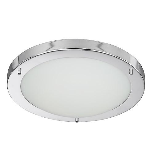 Searchlight 10633CC Modern Bathroom Flush Ceiling Light 28W 2D Low Energy