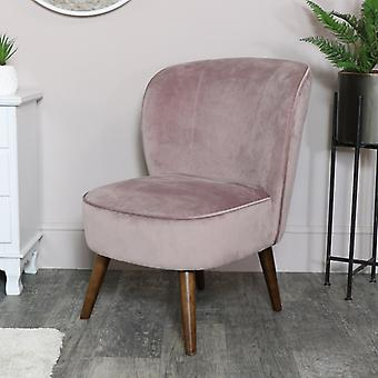 Chaise accent velours rose