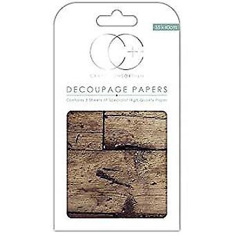 Craft konsortium Oak Top decoupage papper (CCDECP244)