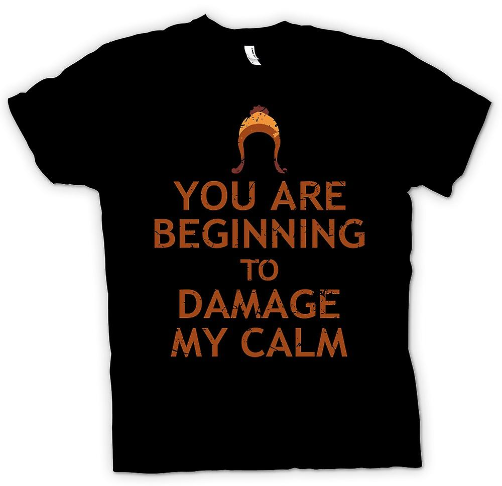 Kids T-shirt - You Are Beginning To Damage My Calm - Serenity Inspired