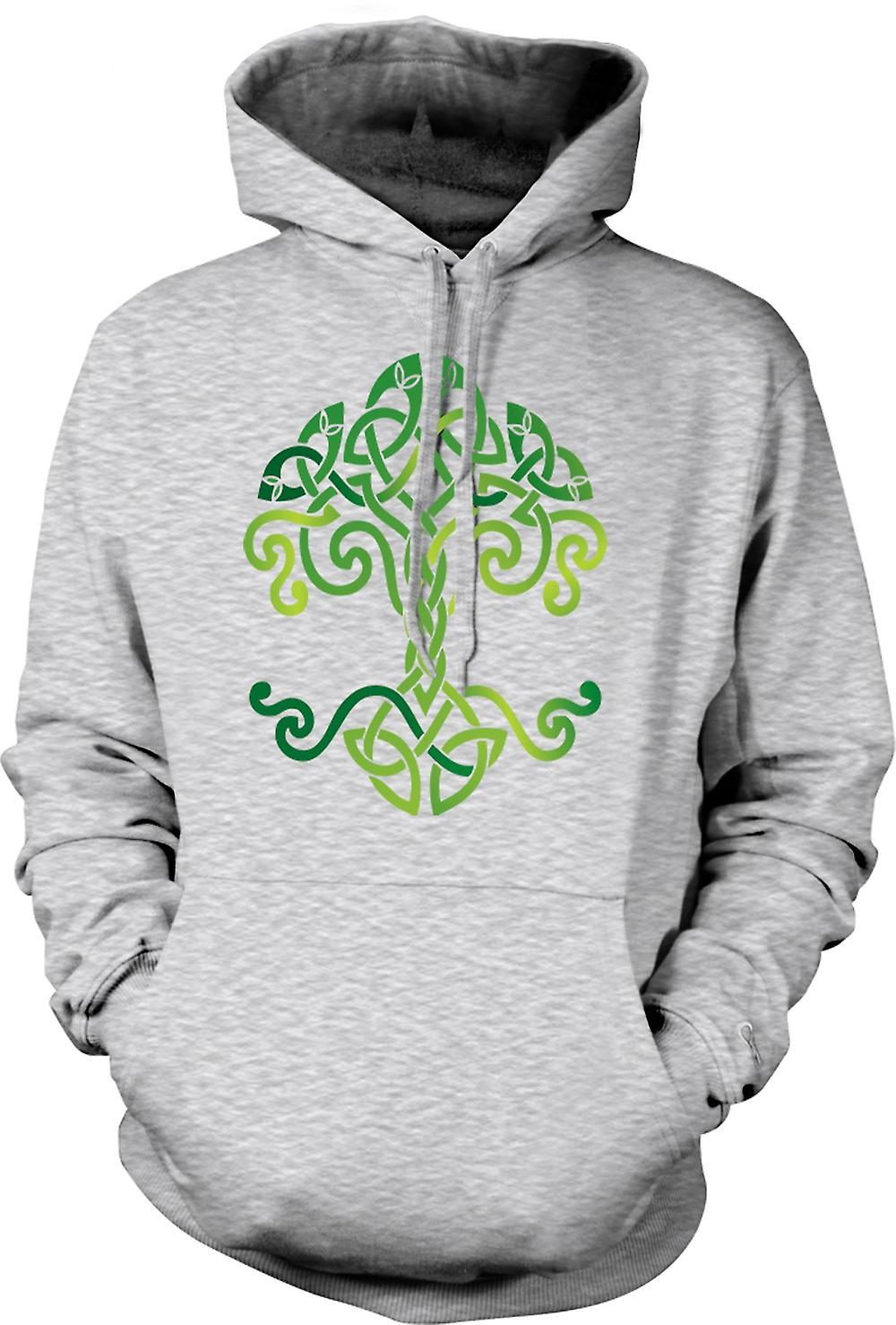 Mens Hoodie - Celtic Tribal Tree Of Life Symbol