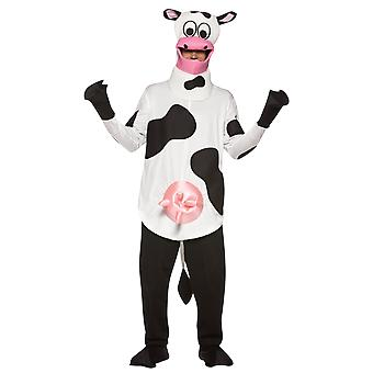 Adult Cow Farm Animal Novelty Funny Fancy Dress Costume