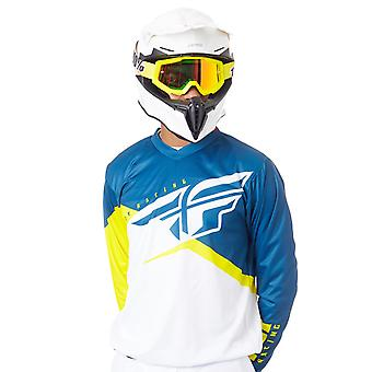 Fly Racing Yellow-White-Navy 2019 F-16 MX Jersey