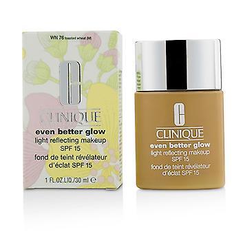 Clinique ainda melhor brilho luz refletindo maquiagem SPF 15 - # WN 76 torrado trigo 30ml/1oz