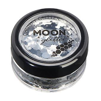 Classic Chunky Glitter by Moon Glitter – 100% Cosmetic Glitter for Face, Body, Nails, Hair and Lips - 3g - Silver
