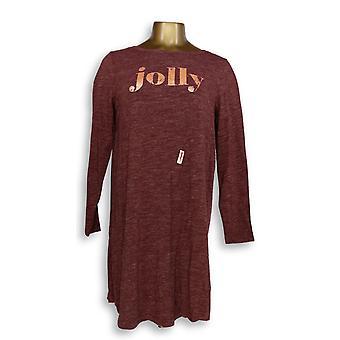 Anybody Women's Sleepshirt Loungewear Cozy Knit Message T-Shirt Red A296885