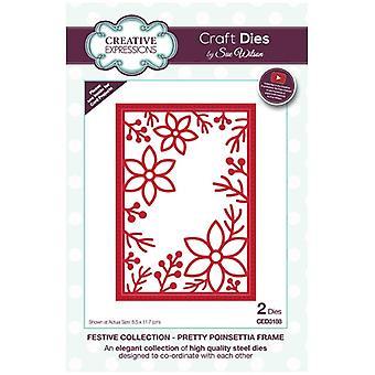 Sue Wilson Die Set Pretty Poinsettia Frame | Festive Collection