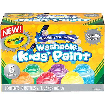 Crayola Washable Metallic Paint 2Oz 6 Pkg 54 5000