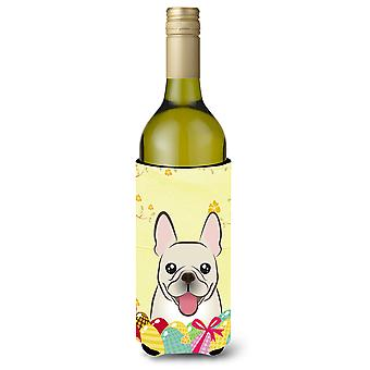 French Bulldog Easter Egg Hunt Wine Bottle Koozie Hugger BB1920LITERK