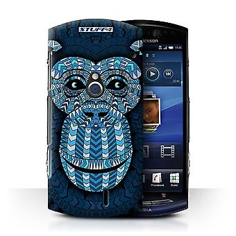 STUFF4 Case/Cover for Sony Xperia Neo/MT15i/Monkey-Blue/Aztec Animal