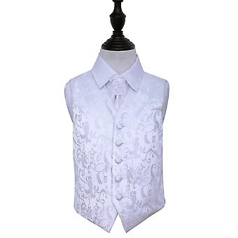 Boy's Passion White Wedding Waistcoat & Cravat Set