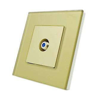 I LumoS Luxury Gold Glass Virgin, Sky Satellite  F Screw Type Single Socket