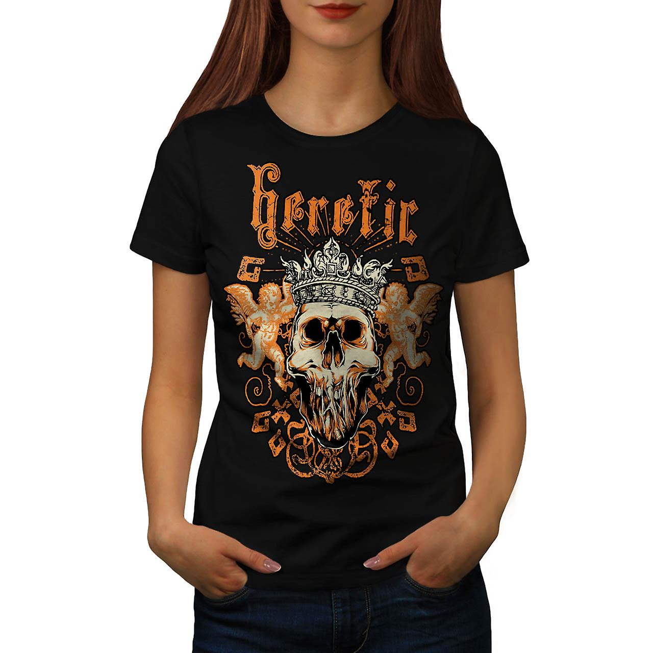 Heretic Monster King Skull Rage Women Black T-shirt | Wellcoda