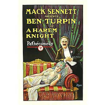 A Harem Knight Ben Turpin Top Madeline Hurlock Bottom 1926 Movie Poster Masterprint