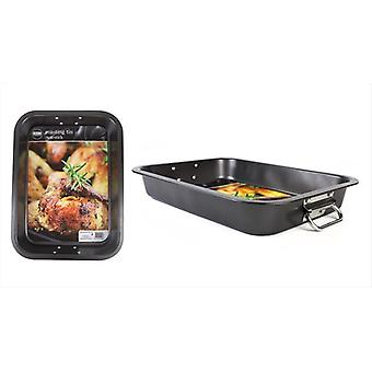 Non Stick Large Roaster Baking Oven Tray 36cm x 26.5cm x 5.5cm Handles