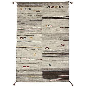 Brown & Beige Tribal Wool Rug Mensa