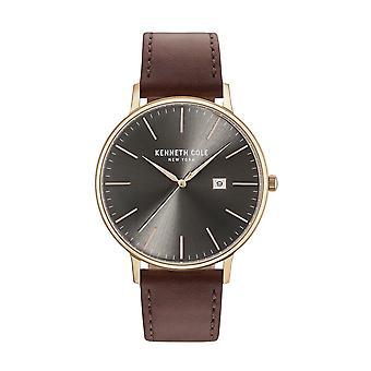 Kenneth Cole New York Herren Uhr Armbanduhr Leder KC15059008