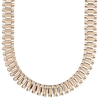 Iced out hip hop bling chain - LINK 15mm rose gold