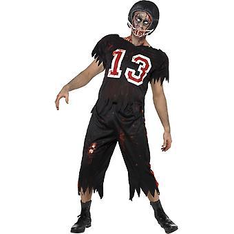 Zombie football costume Halloween high school horror