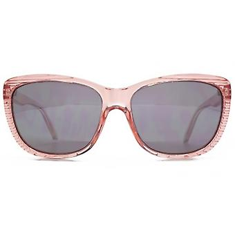 Animal Pop Butterfly Plastic Sunglasses In Crystal Rose