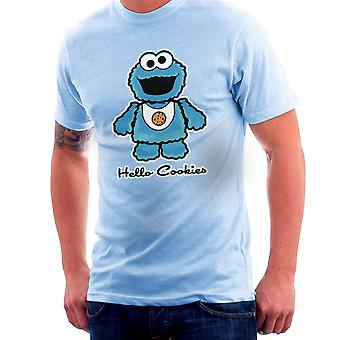 Hallo Cookie Monster Sesamstraat Kitty T-Shirt voor mannen