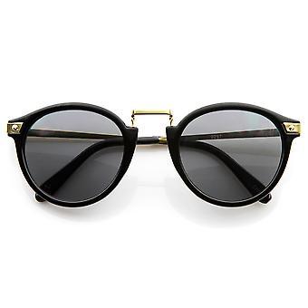 Vintage inspirerte runde Horned Rim P-3 ramme Retro solbriller