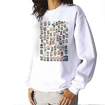 This is what I did in the Eighties Lil Characters Women's Sweatshirt