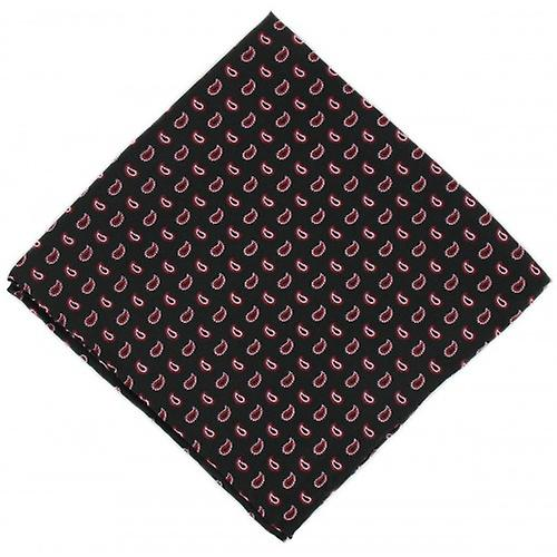 Michelsons of London Small Pine Silk Handkerchief - Black