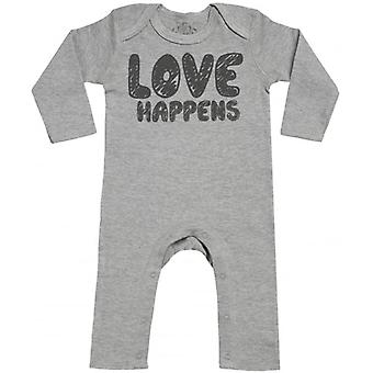 Spoilt Rotten LOVE Happens Baby Footless Romper